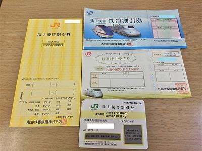 JR4社株主優待券